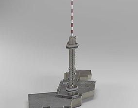 TV tower Kopitoto Vitosha Sofia Bulgaria 3D model