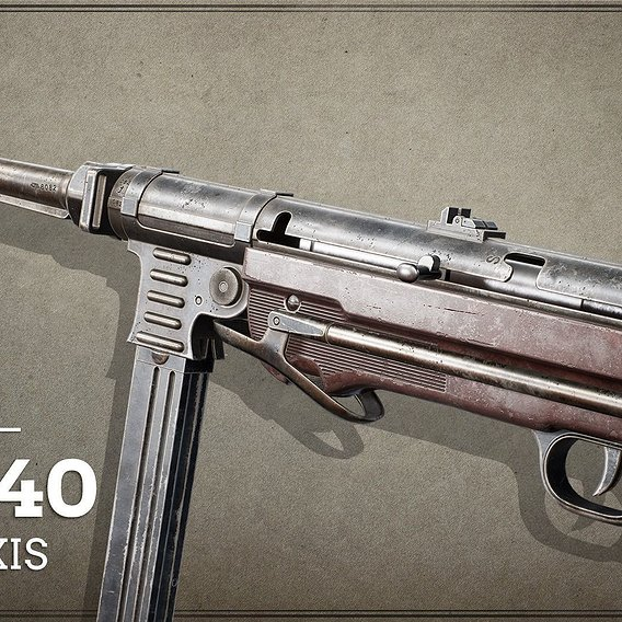 World War II / Axis First Person Asset MP40