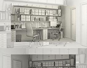 3D model room Cabinet