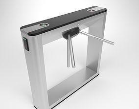 3D Turnstile gate TTD 031G Blender Cycles