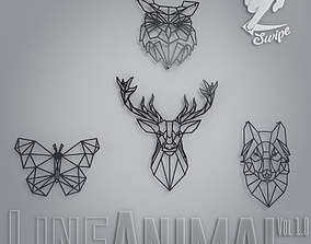 3D model LineAnimals - Wall Decor