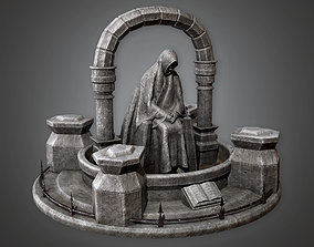 Stone Statue Cemetery 8 CEM - PBR Game Ready 3D asset