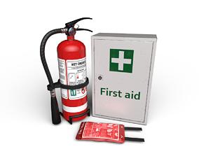 3D asset Basic Fire Safety Kit