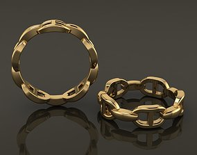 Hermes Style Link Ring Band Mix Size 3D print model