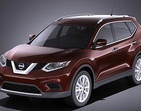 3D Nissan Rogue 2016 VRAY