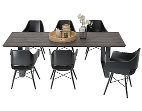 3D model Nature Slim Dining with Jazz Chairs