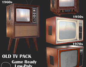 3D Old Television Pack PBR
