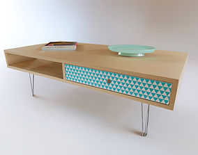 Midcentury coffee table 3D