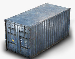 3D asset Container Low Poly