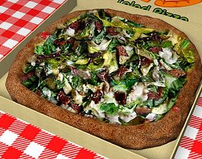 Salad Pizza 3D