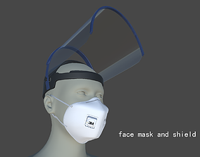 3D face mask and shield