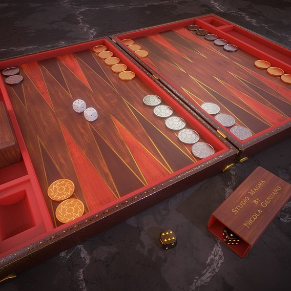 Backgammon personal play set
