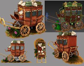 3D model chariot wagon