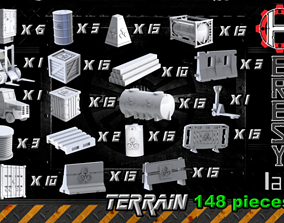 Heresylab - COnstruction Site SciFi Terrain set - 148 1
