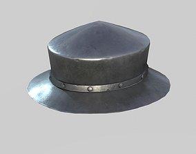 Medieval Kettle Helmet 03 3D asset