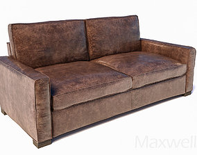 sofa Maxwell distressed leather 3D model