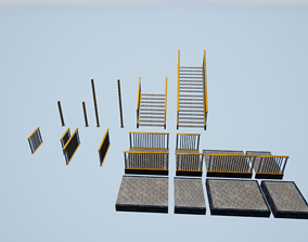 VR / AR ready Stairs 3D model