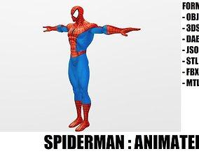 3D asset animated Spider Man