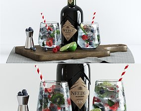 3D model Decorative set with cocktails