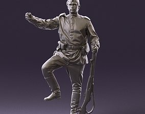 000011 man in sov soldier with mosin sniper rifle 3D 1