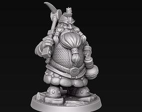 Dwarf miner 3D printable model