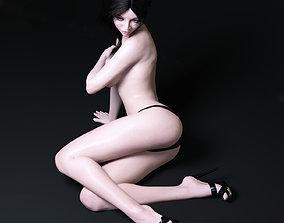 European woman rigged 3D model