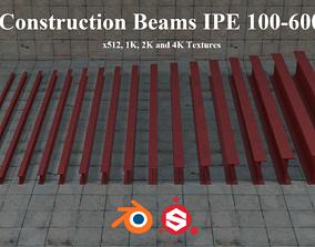 3D asset Construction Beams IPE 100-600 PBR