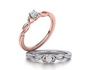 Heart Engagement ring 115 3D printable model