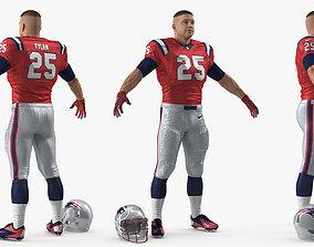 American Football Player New England Patriots 3D model