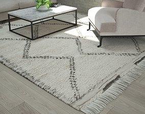 Moroccan Beni Ourain rug 3D model