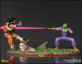 3D printable model Goku and Piccolo Vs Raditz - Dragon 1