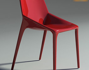 3D model Chair Outline Red