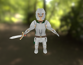 3D model Small Knight Low Poly