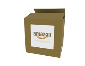 Amazon box 3D asset low-poly