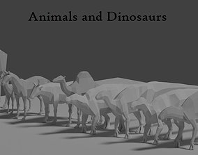 Lowpoly Animals and Dinosaurs 3D asset
