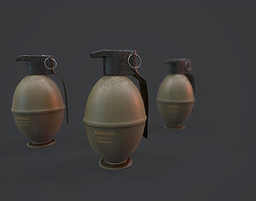 M61 Grenade - Models and Textures Low-poly 3D asset