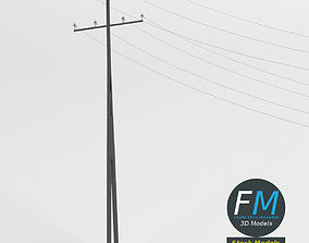 3D model Steel utility pole
