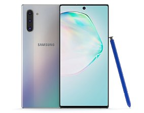 3D model Samsung Galaxy Note 10 Aura Glow