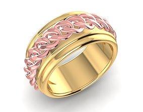 3D print model rotate cuban ring 1564