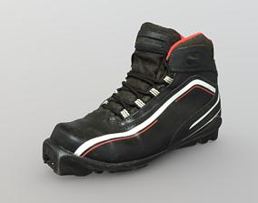Photorealistic ski shoe 3D asset
