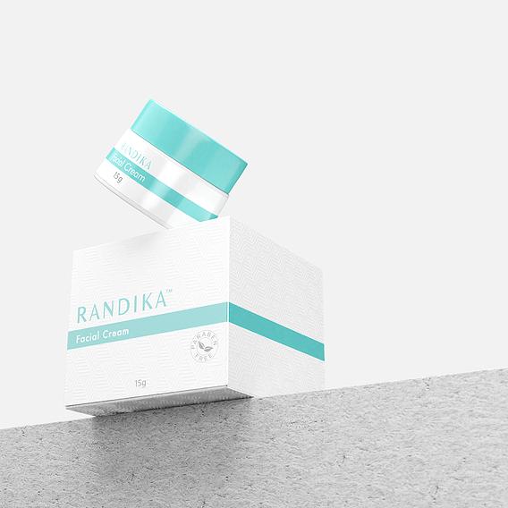Randi-ka - 3D Visual Facial Cream | Gambar 3D Produk Skincare Facial Cream