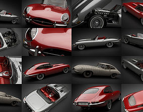 1961-1964 E-Type Jaguars 3D model