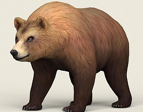 3D model Realistic Low Poly Bear