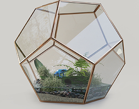 Terrarium with a frog 3D model