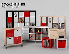3D Bookshelf set