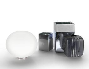 3D model Flos Glo-Ball Table Lamp with Square Vase