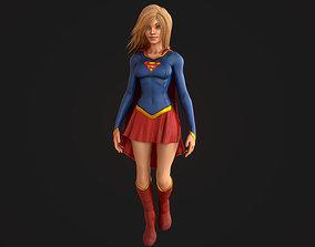 Supergirl 3D asset
