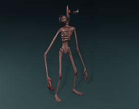 3D model animated Siren Head