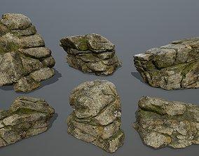 rocks dune 3D model low-poly