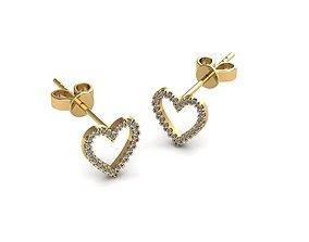3D printable model Earrings silver shining